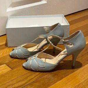 Rachel Simpson Mimosa T-Strap Heels Pale Mint